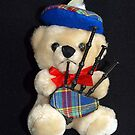 Bagpipes Teddy by Bev Pascoe