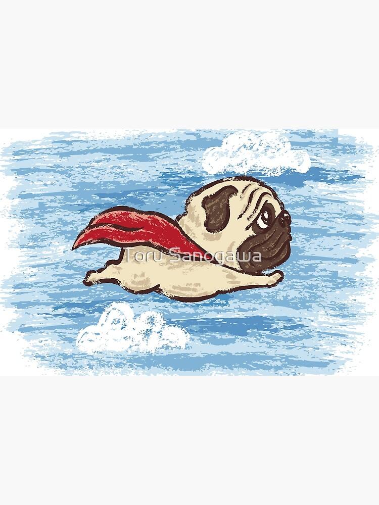 Flying Pug by sanogawa