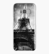 Eiffel Tower, Starry Night, Black and White Samsung Galaxy Case/Skin