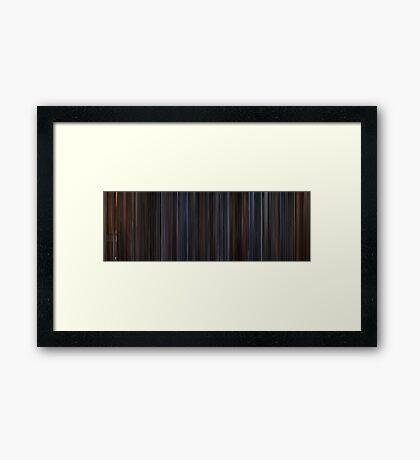 Moviebarcode: Die Hard (1988) Framed Print