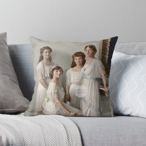 OTMA 1914 Formal - Colorized Throw Pillow