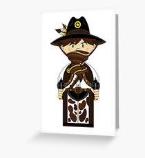 """Cute """"Wild West' Cowboy Sheriff Greeting Card"""