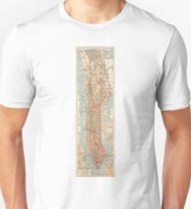 Camiseta unisex Vintage Map of New York City (1894)