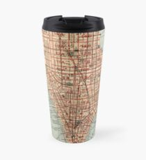 Taza de viaje Vintage Map of New York City (1894)
