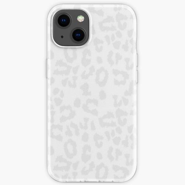 White Cheetah Print iPhone Soft Case