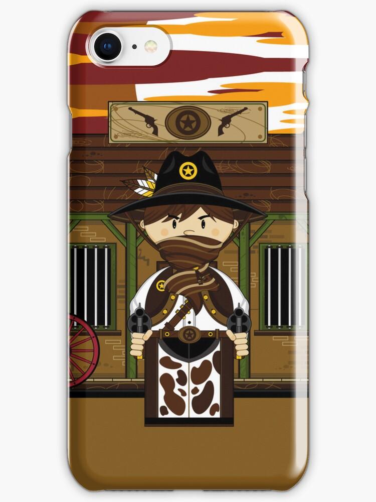 Cute Cowboy Sheriff at Jailhouse by MurphyCreative