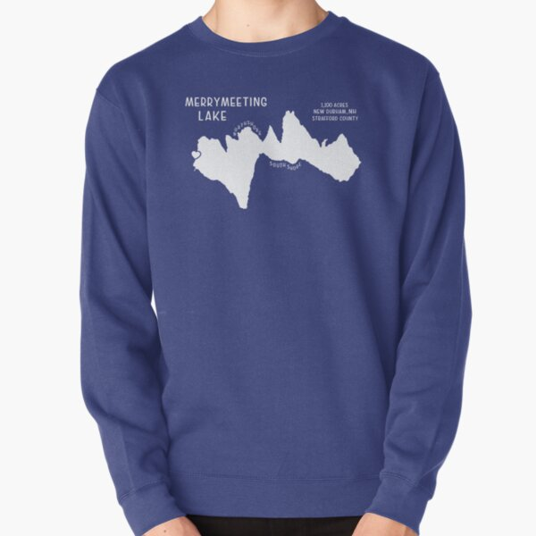 Lake Map with Heart Pullover Sweatshirt