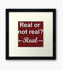 Hunger Games Real or Not Real 2 Framed Print