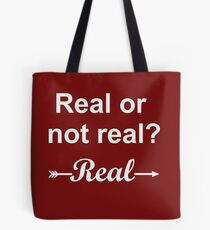 Hunger Games Real or Not Real 2 Tote Bag