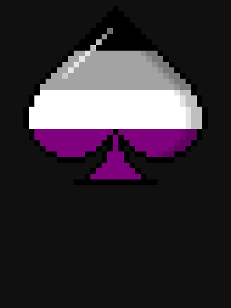 Asexual Pride 8-Bit Pixel Ace of Spades by valador