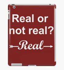 Hunger Games Real or Not Real 2 iPad Case/Skin