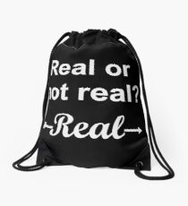 Hunger Games Real or Not Real 2 Drawstring Bag