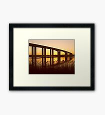 Dusk Under the Orwell Bridge, Ipswich Framed Print