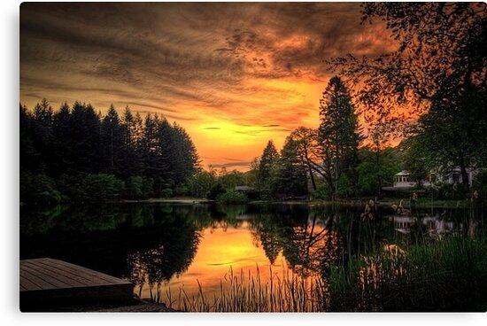 Golden Light On Loch Ard by Aj Finan