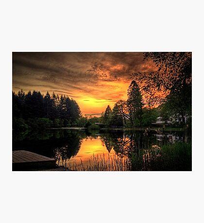 Golden Light On Loch Ard Photographic Print