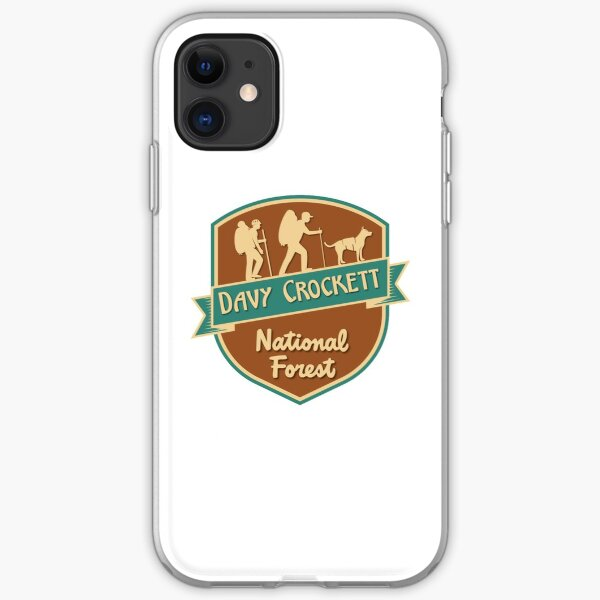 Davy Crockett National Forest shirt, sticker, gift (W) iPhone Soft Case