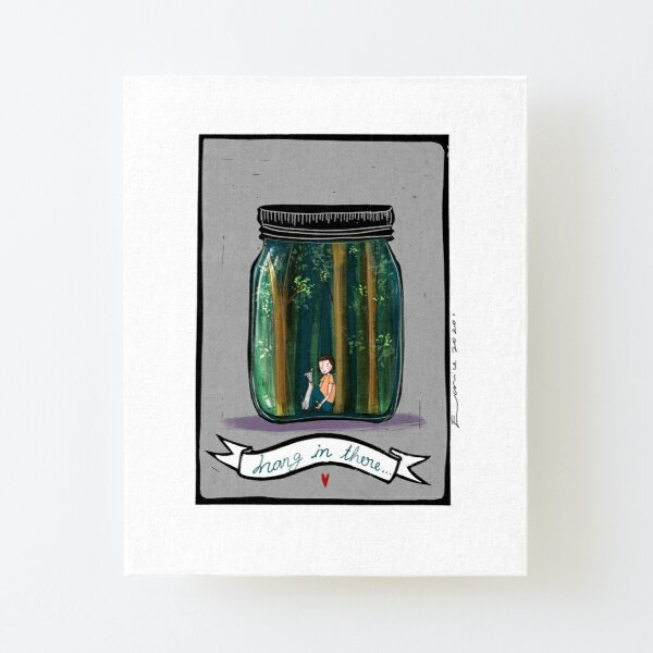 Whippet in a Jar Canvas Mounted Print