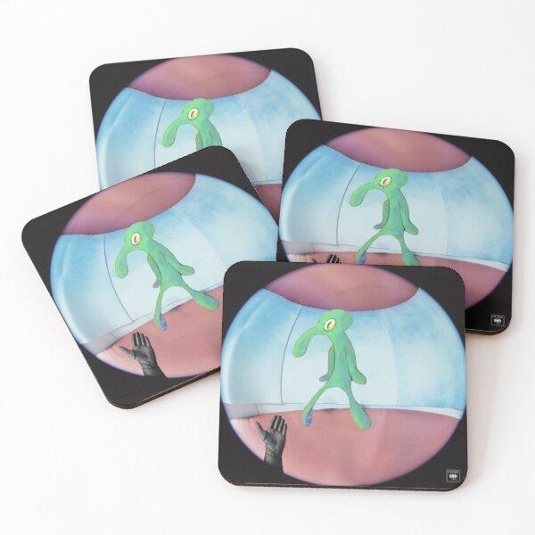fine line but it's squidward Coasters (Set of 4)