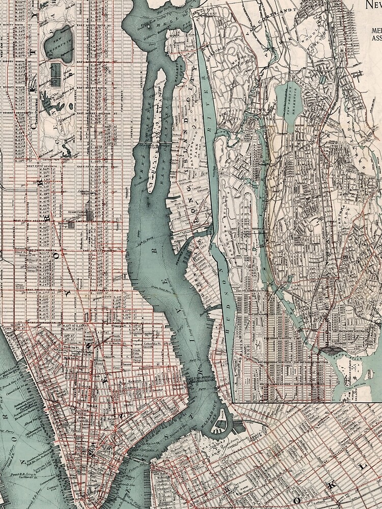 Vintage Map of New York City (1897) by BravuraMedia