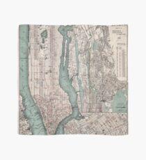 Pañuelo Mapa vintage de la ciudad de Nueva York (1897)