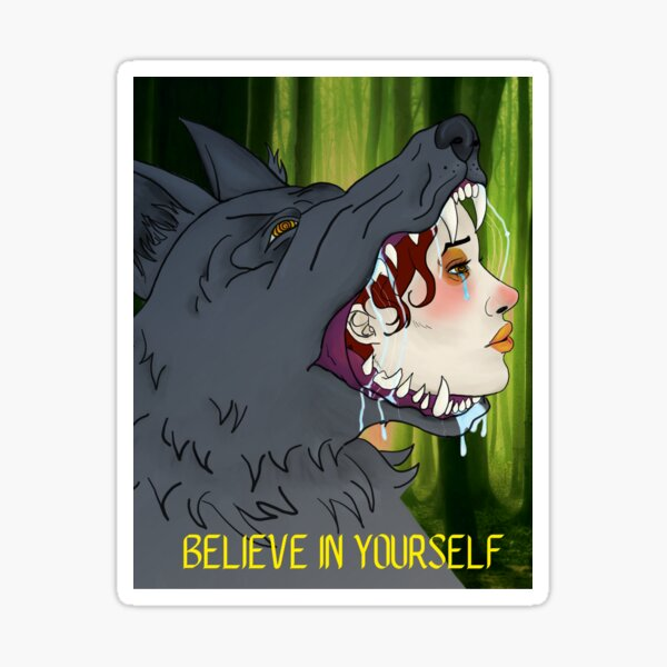 Little Red Wolf  Sticker