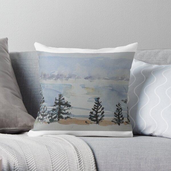 Salty Pines, Sunrise at Avoca Throw Pillow