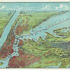 Vintage Pictorial Map of of New York City (1909)  by BravuraMedia