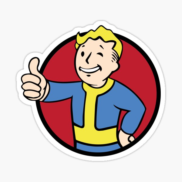 Vault Boy Thumbs Up Sticker