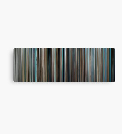 Moviebarcode: The Big Blue / Le grand bleu (1988) Canvas Print
