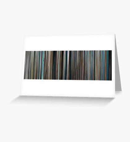 Moviebarcode: The Big Blue / Le grand bleu (1988) Greeting Card