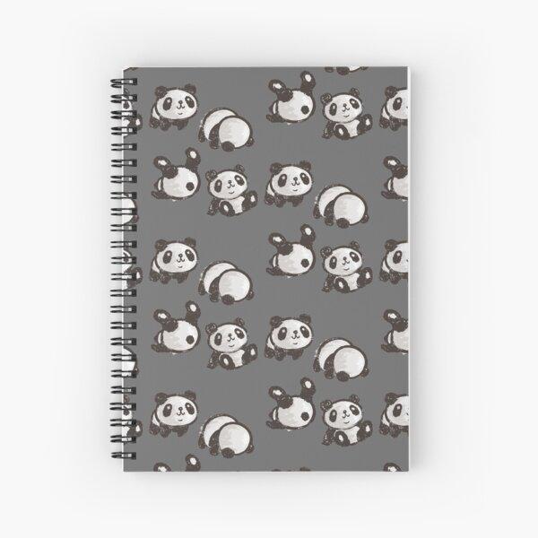 Rolling panda Spiral Notebook