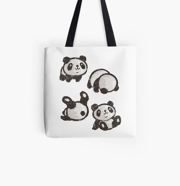 Rolling panda All Over Print Tote Bag