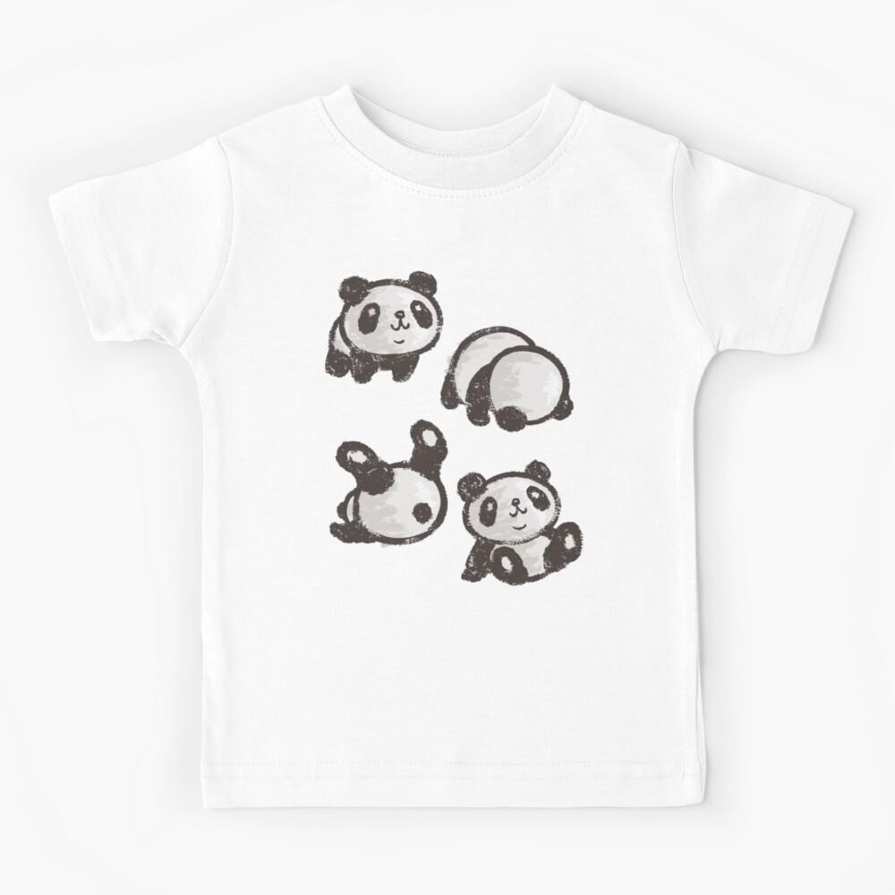 Rolling panda Kids T-Shirt