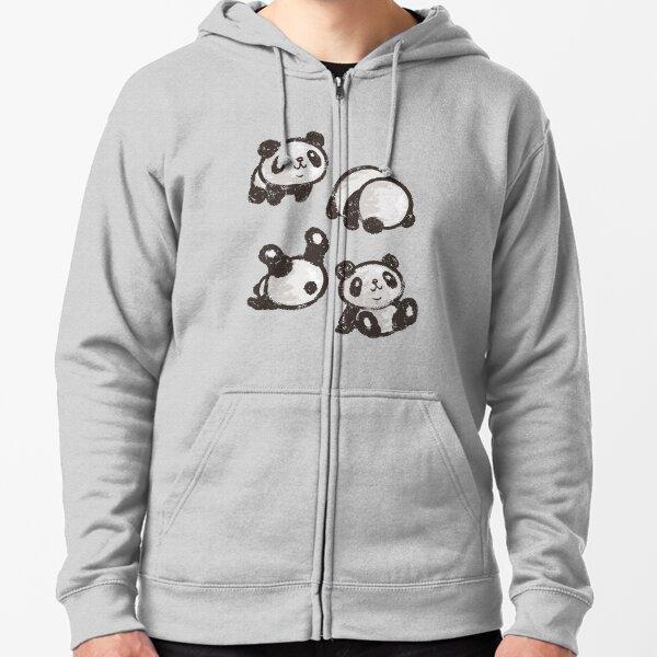 Rolling panda Zipped Hoodie