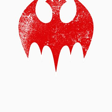Rebel Bat (Distressed) by Eozen