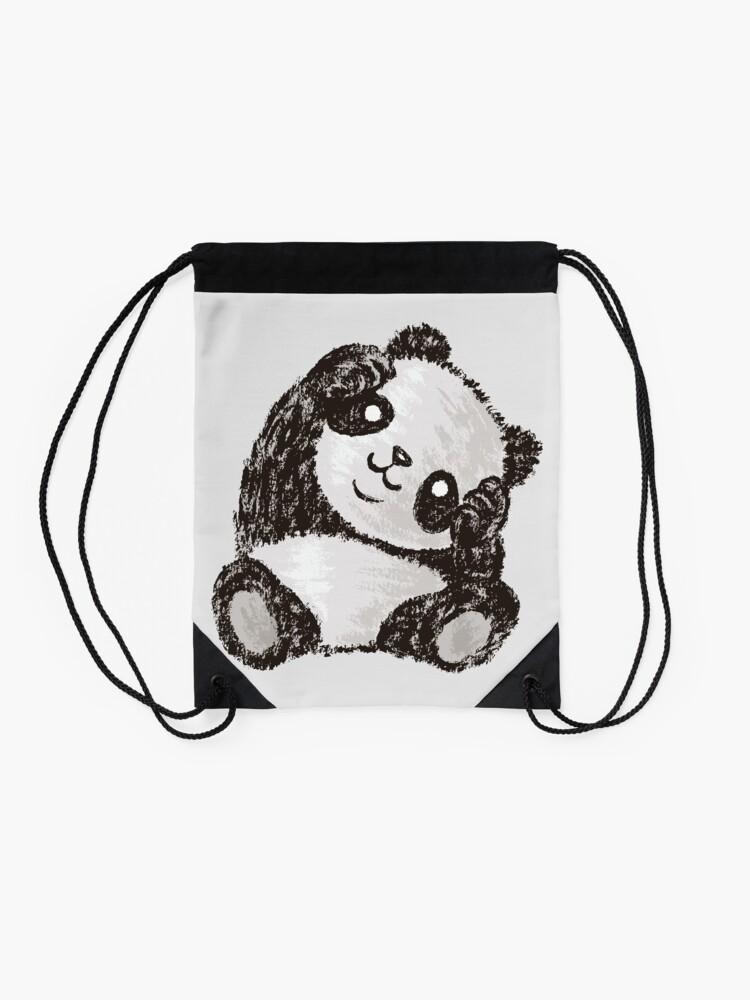 Alternate view of Cute Panda Drawstring Bag