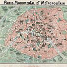 Map of Paris, France by adrienne75