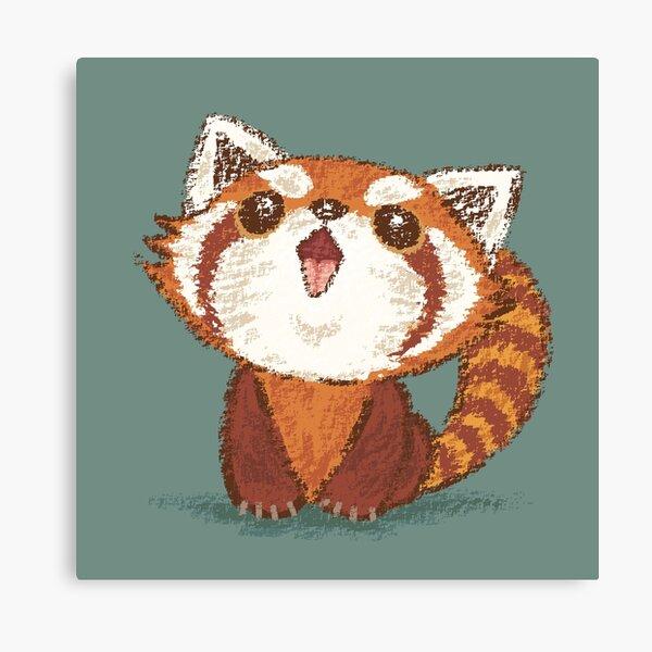 Red panda happy Canvas Print