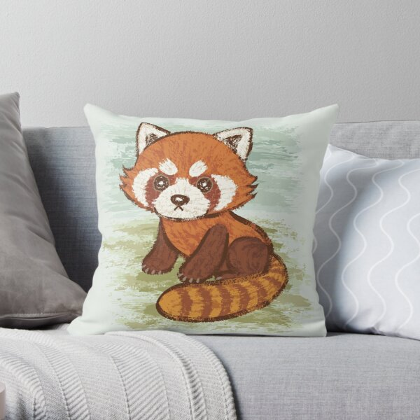 Red Panda Pillows Cushions Redbubble