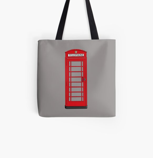 London Phone Box All Over Print Tote Bag