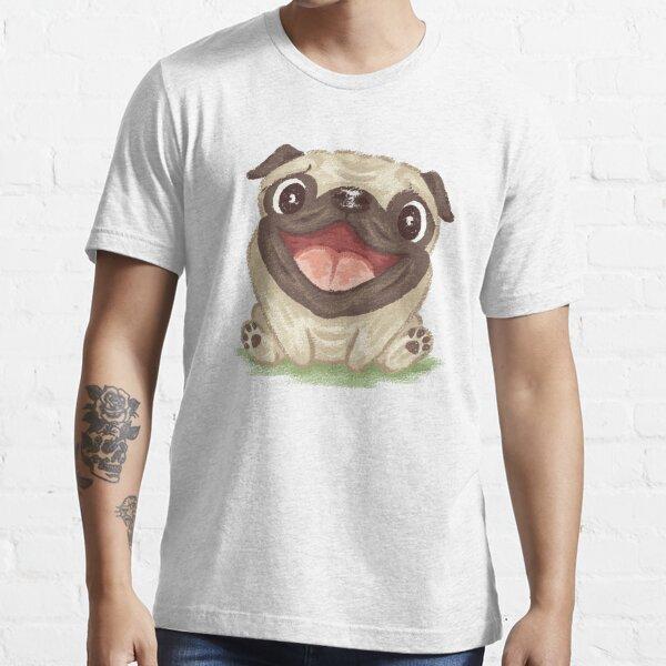 Happy Pug Essential T-Shirt