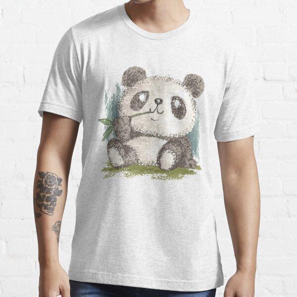 Panda qui mange du bambou T-shirt essentiel