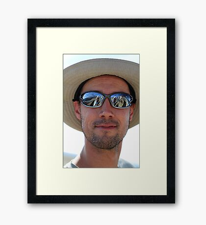 Bruce (and me, Gary, Graham and hang gliders) Framed Print