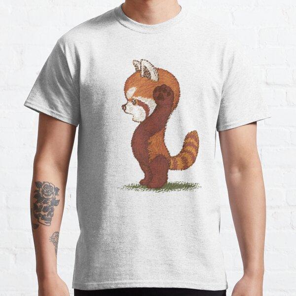 Panda rouge surpris T-shirt classique