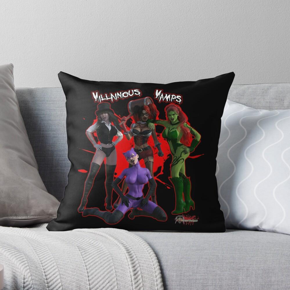 Villainous Vamps: The Sirens  Throw Pillow