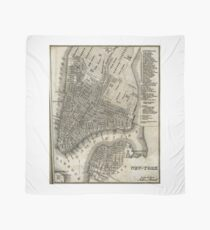 Pañuelo Vintage Map of New York City (1842)