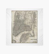 Pañuelo Vintage Map of New York City (1842)