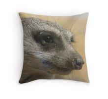 hello meerkat so very nice to meet you Throw Pillow