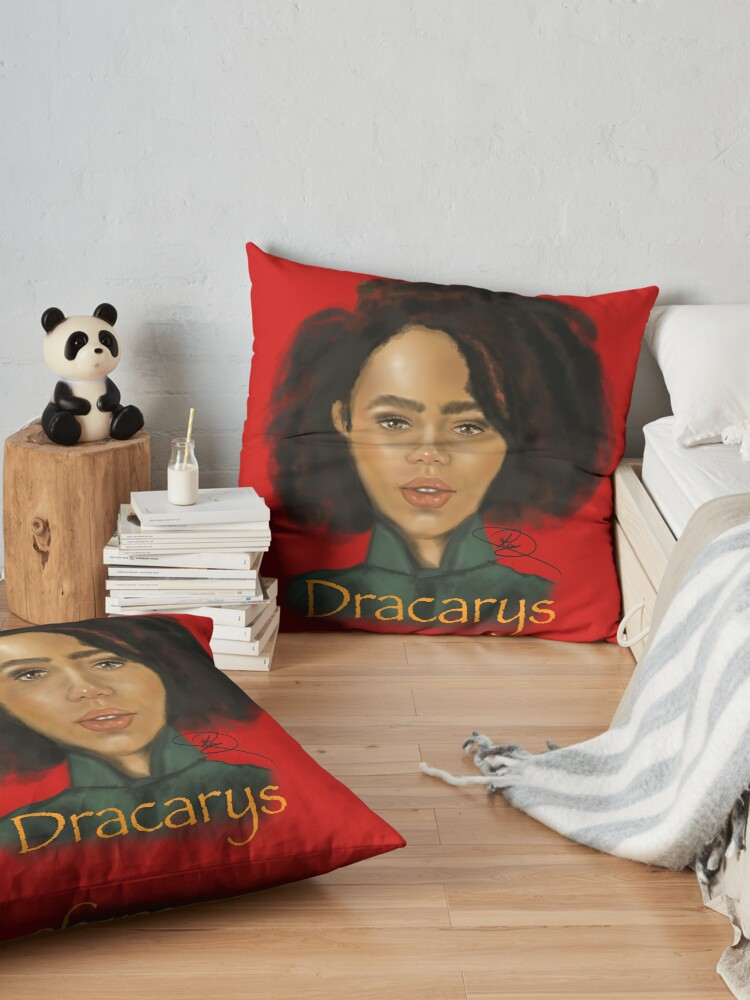 Alternate view of Dracarys! Floor Pillow