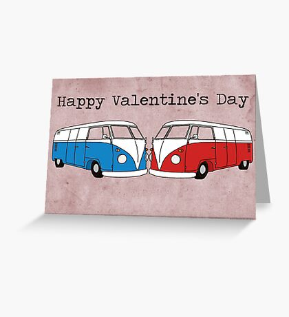 VW Valentine's Day Card Greeting Card